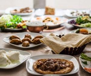 Traditional foods like mumbar buryan kebab baklava from Turkish cuisine